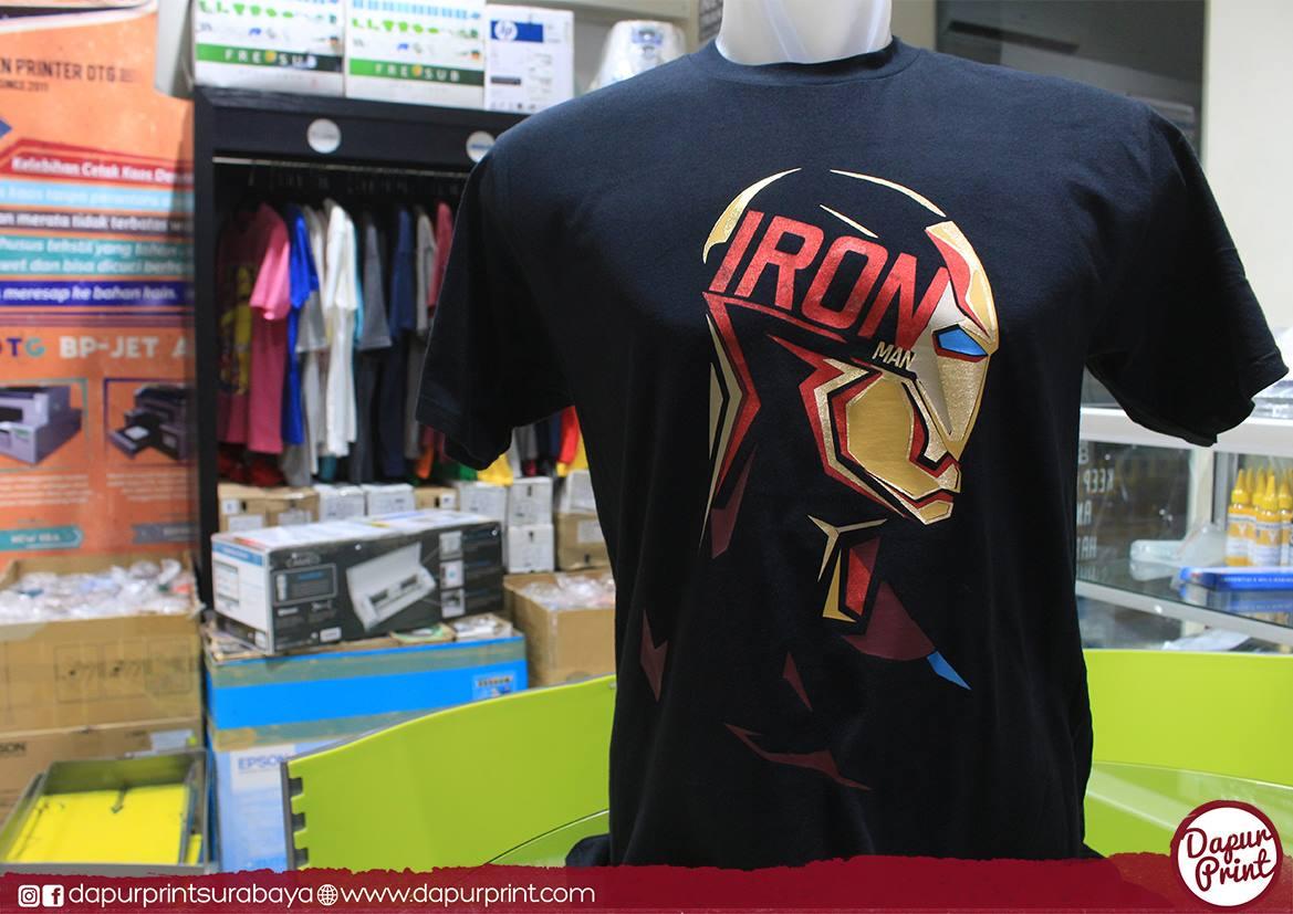 Sablon kaos Iron Man