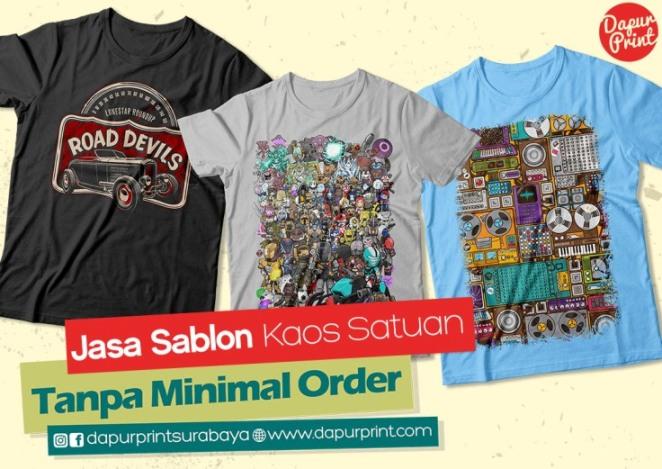 Jasa Sablon Kaos Custom