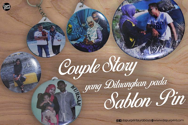 Couple Story yang Dituangkan pada Sablon Pin
