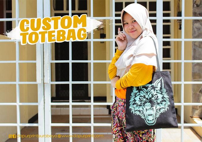 Custom Kanvas Tote Bag Satuan Murah