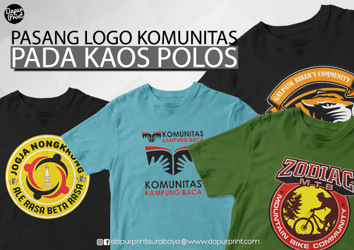 Pasang Logo Komunitas pada Kaos Polos