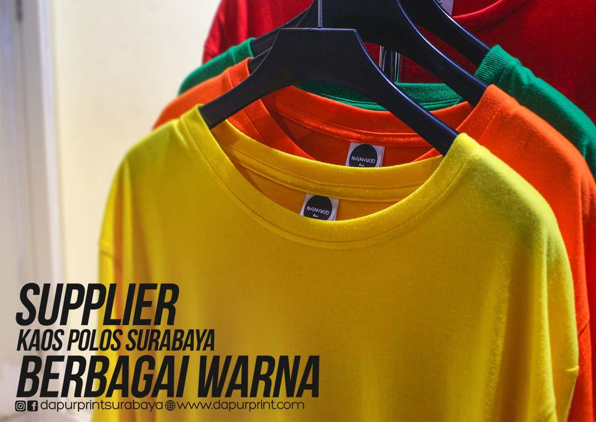 Supplier Kaos Polos Surabaya Berbagai Warna