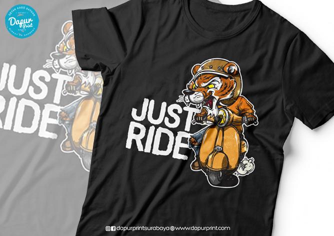 Sablon Kaos Biker dan Rider
