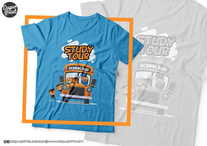 Sablon Kaos Kelas Study Tour