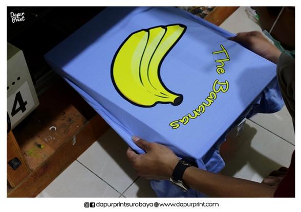 Sablon Kaos dan Topi Banana