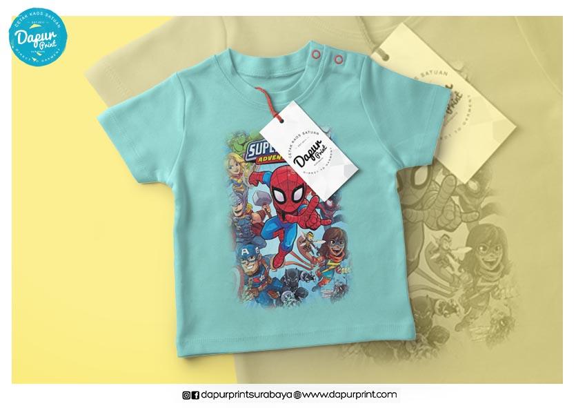 Sablon Kaos Superhero Untuk Anak