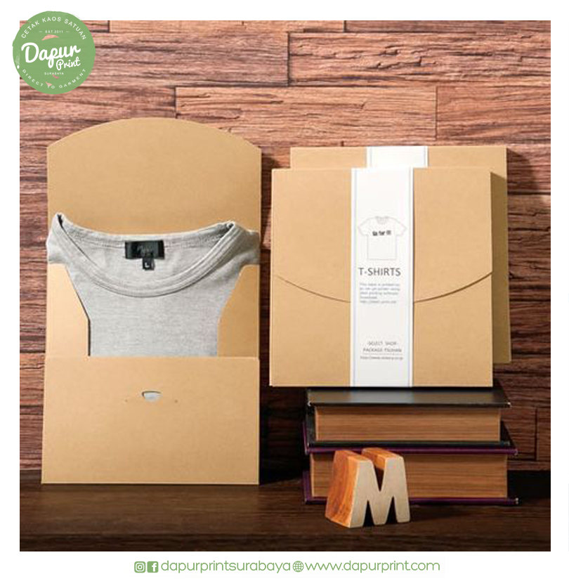 10 Inspirasi Packaging Kaos Yang Menarik