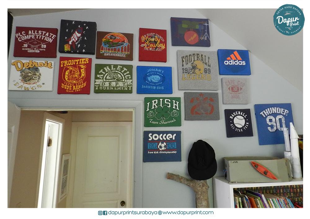 Kreasi Menghias Dinding Rumah Dengan Kaos Yang Tidak Terpakai