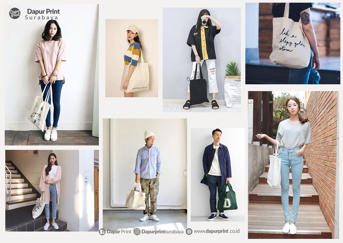Ide Tampil Fashionable Dengan Tas Kanvas