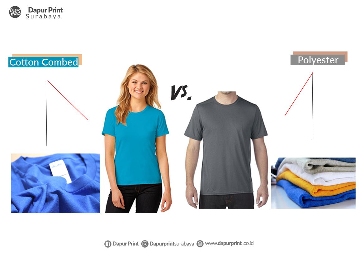 Bagus Mana, Kaos Katun Combed Atau Kaos Polyester ?