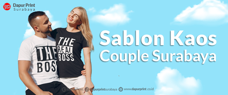 Jasa Sablon Kaos Couple Area Surabaya