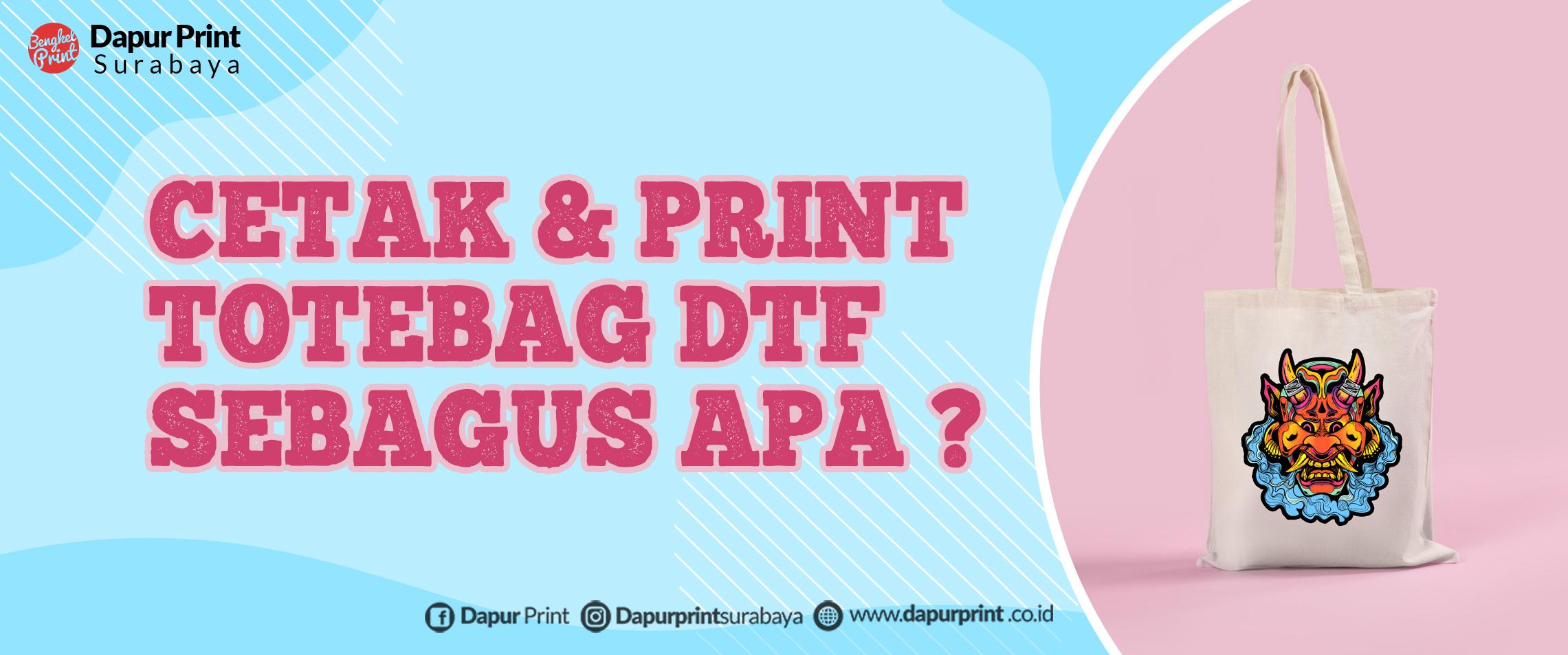 Cetak Tote Bag Transfer Film DTF Satuan
