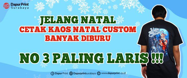 Jasa Sablon Kaos Natal Surabaya
