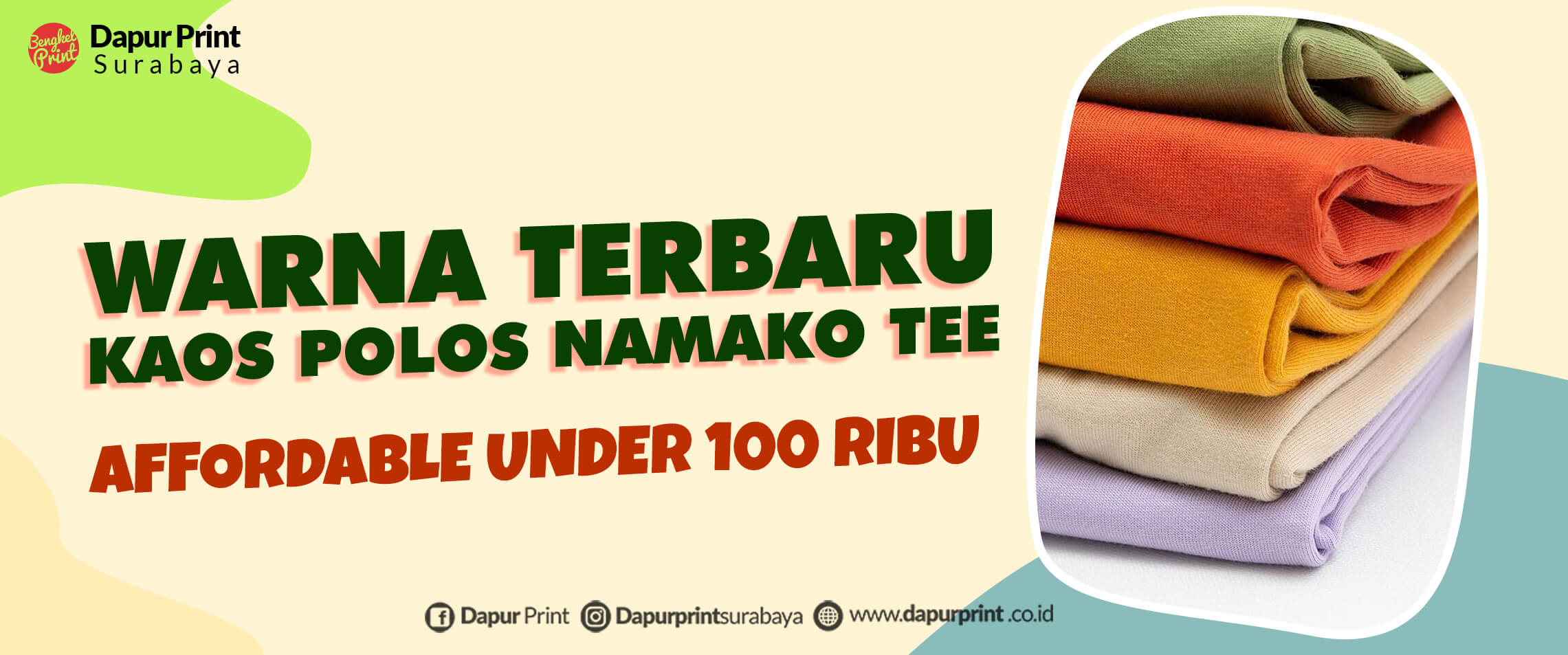 Launching Kaos Namako Tee Premium Warna Baru 2021