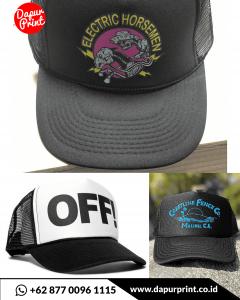 sablon topi custom online