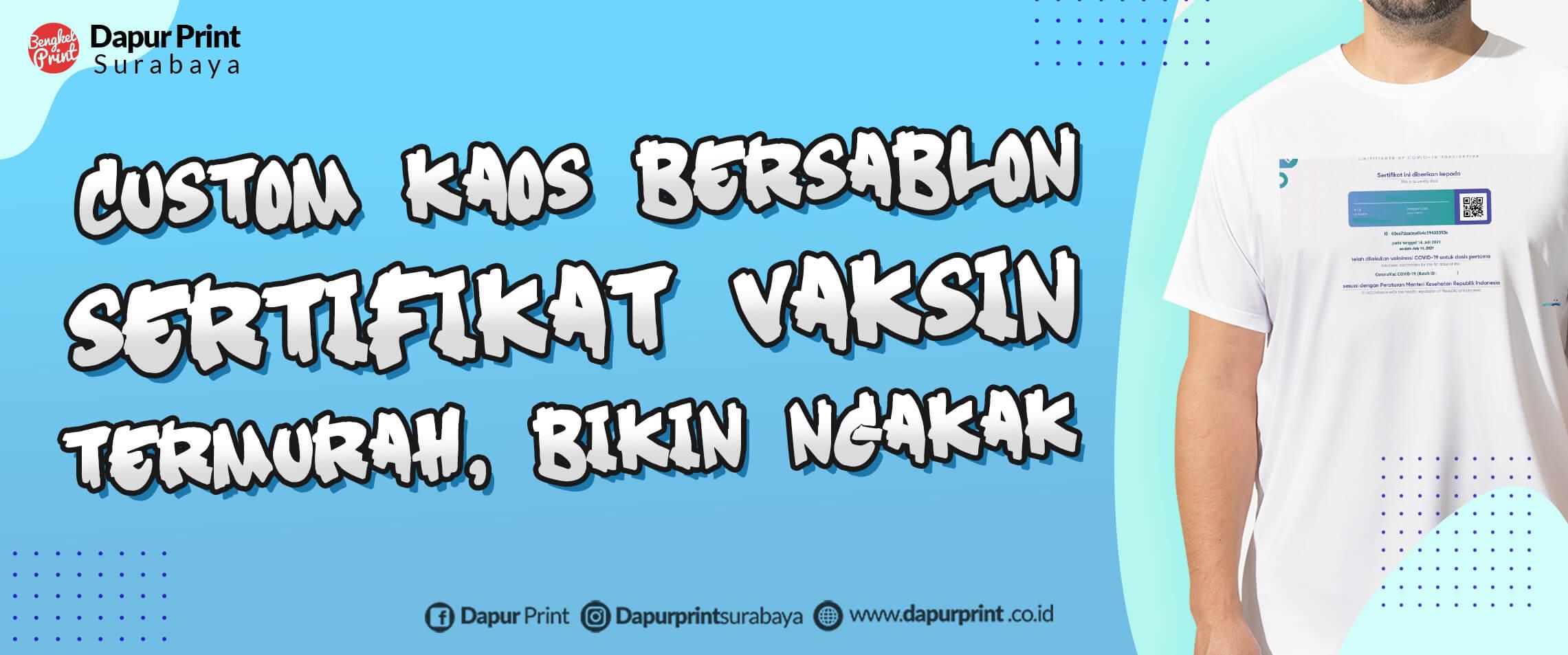 Jasa Cetak Kaos Vaksin Custom MURAH SURABAYA